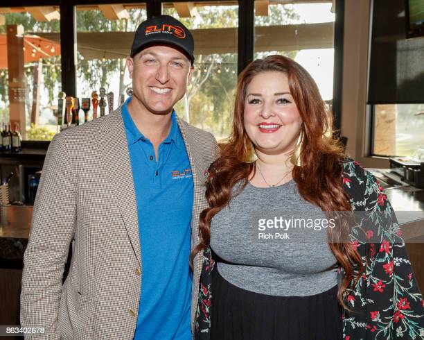 Dustin Tillman and Jane Horton pose for a photo at the Swing Fore The Vets Charity Golf Tournament on October 19 2017 in Rancho Santa Margarita...
