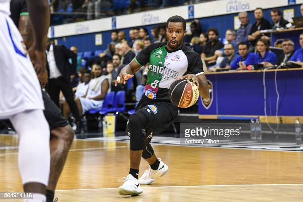 Dustin Ware of Boulazac during the Pro A match between Levallois Metropolitans and Boulazac at Salle Marcel Cerdan on October 21 2017 in Paris France
