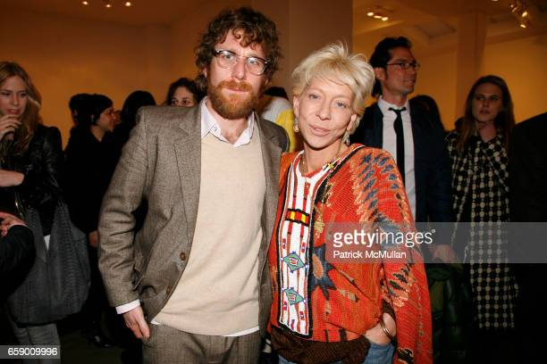 Dustin Yellin and Lisa de Kooning attend ROBERT MILLER GALLERY presents 'Dust in the Brain Attic' by DUSTIN YELLIN at 524 W 26th Street on April 23...