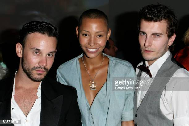 Dustin Zuber Pia Cossa and Cameron Moir attend The YOUNG PATRONS CIRCLE of AMERICAN FRIENDS Hosts SOIREE AU LOUVRE at Payne Whitney Mansion on June 3...