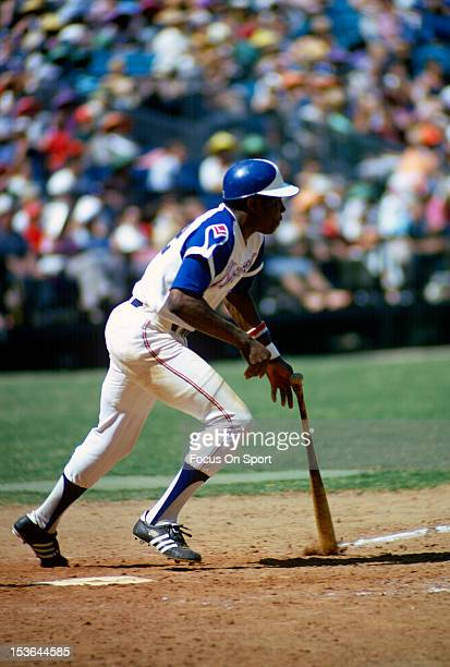 Dusty Baker of the Atlanta Braves bats during an Major League Baseball game circa 1973 at AtlantaFulton County Stadium in Atlanta Georgia Baker...