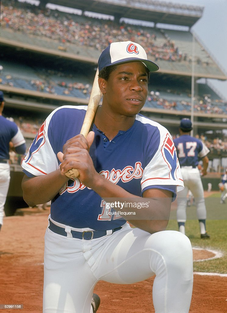 Dusty Baker of the Atlanta Braves poses before an MLB game at Shea Stadium in Flushing New York Baker played for the Atlanta Braves 19681975