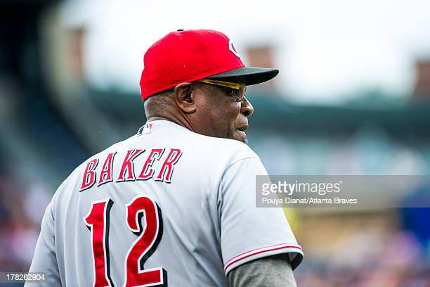 Dusty Baker of the Cincinnati Reds during the game against the Atlanta Braves at Turner Field on July 13 2013 in Atlanta Georgia The Braves won 52
