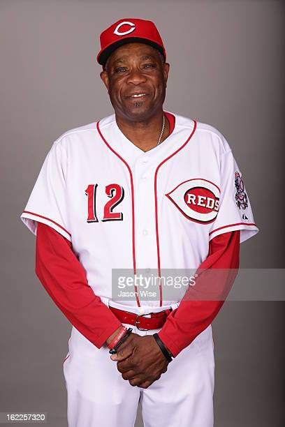 Dusty Baker of the Cincinnati Reds poses during Photo Day on Saturday February 16 2013 at Goodyear Ballpark in Goodyear Arizona