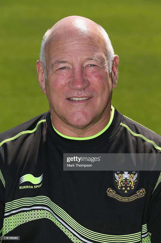 Dusty Hare the recruitment and development manager for Northampton Saints senior academy poses for a portrait at Franklin's Gardens on August 27, 2013 in Northampton, England.