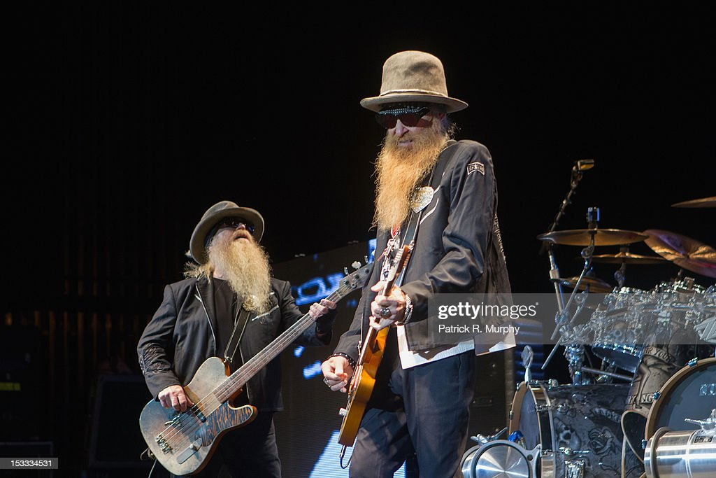 <a gi-track='captionPersonalityLinkClicked' href=/galleries/search?phrase=Dusty+Hill&family=editorial&specificpeople=589350 ng-click='$event.stopPropagation()'>Dusty Hill</a> and <a gi-track='captionPersonalityLinkClicked' href=/galleries/search?phrase=Billy+Gibbons&family=editorial&specificpeople=242873 ng-click='$event.stopPropagation()'>Billy Gibbons</a> of ZZ Top perform at the Akron Civic Theatre on October 3, 2012 in Akron, Ohio.