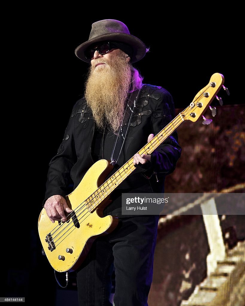 Dusty Hill is performing with 'Z Z Top' at Fiddlers Green in Englewood Colorado on August 20 2014