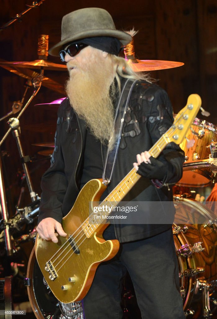 Dusty Hill of ZZ Top performs as part of the 'Beards N' Beck Tour 2014' at The Mountain Winery on August 12, 2014 in Saratoga, California.