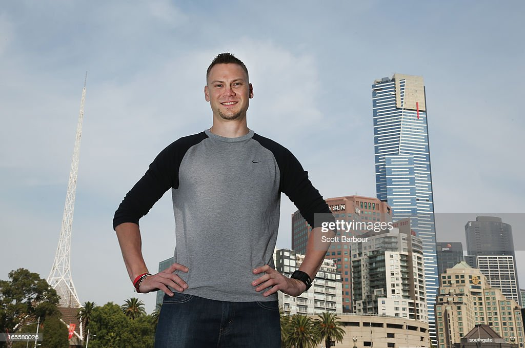 Dusty Jonas of the United States of America poses during the John Landy Lunch on April 5, 2013 in Melbourne, Australia. Jonas will compete in the Qantas Melbourne World Challenge.
