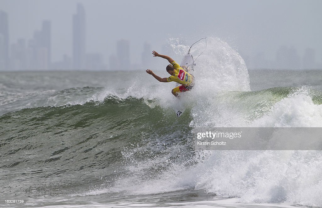Dusty Payne of Hawaii surfs during round one of the Quiksilver Pro on March 5, 2013 in Gold Coast, Australia.