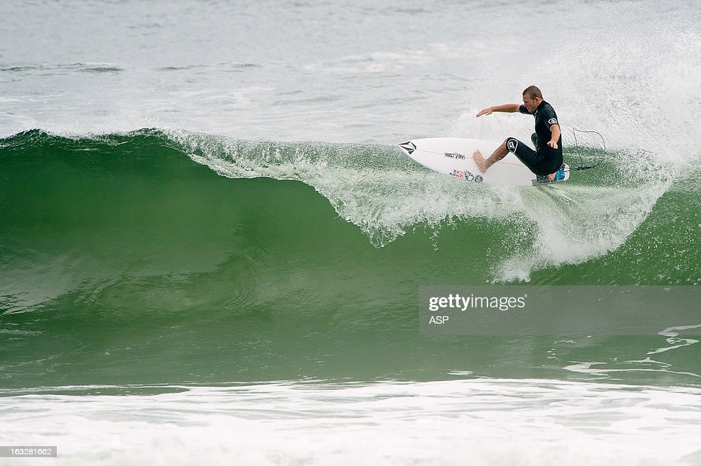 <a gi-track='captionPersonalityLinkClicked' href=/galleries/search?phrase=Dusty+Payne&family=editorial&specificpeople=4091671 ng-click='$event.stopPropagation()'>Dusty Payne</a> of the United States surfs during the Roxy Pro on March 7, 2013 in Gold Coast, Australia.