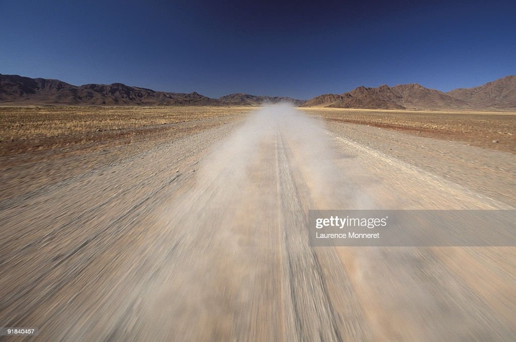 Dusty road : Stock Photo