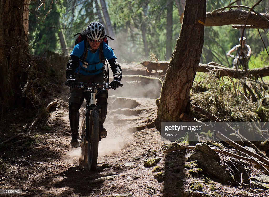 Dusty single trail, South Tyrol : Stock Photo