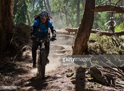 Dusty single trail, South Tyrol : Stock Photo