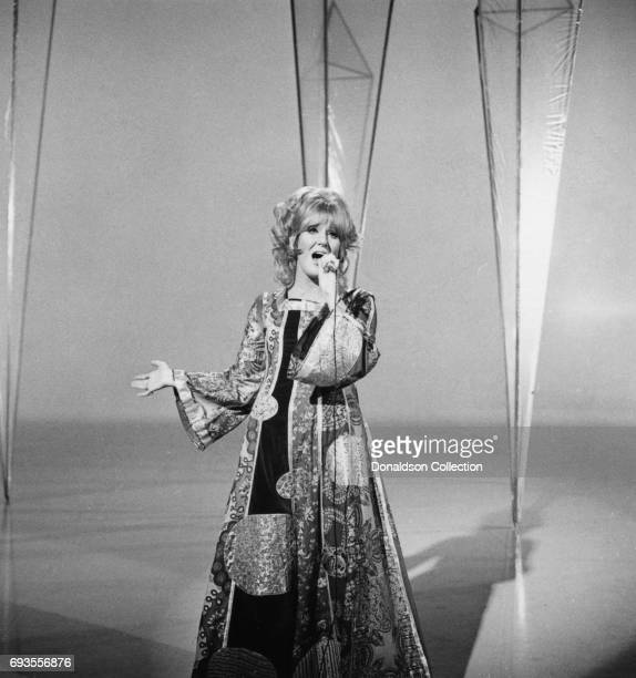 Dusty Springfield performs on 'This Is Tom Jones' TV show in circa 1970 in Los Angeles California