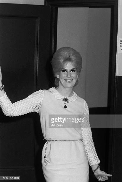 Dusty Springfield posing for pictures circa 1970 New York