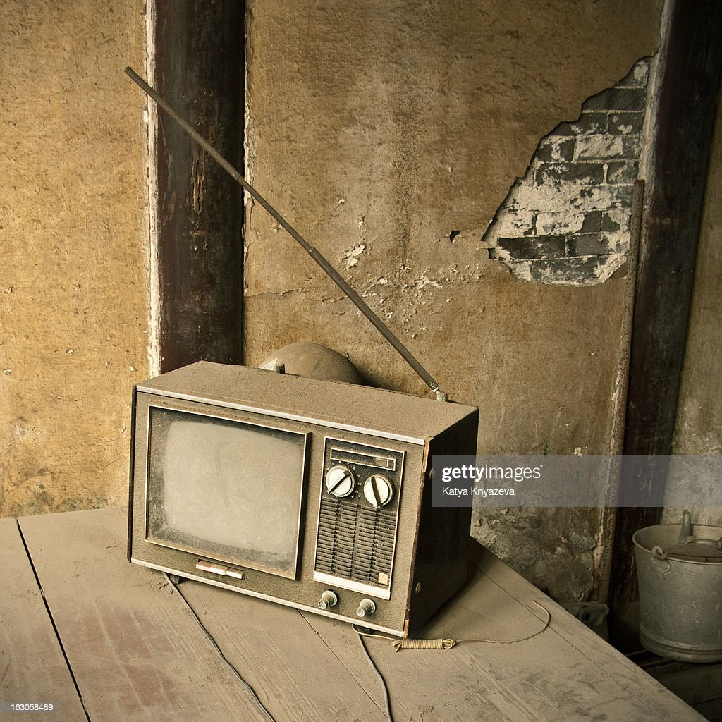 Dusty TV set in an old house