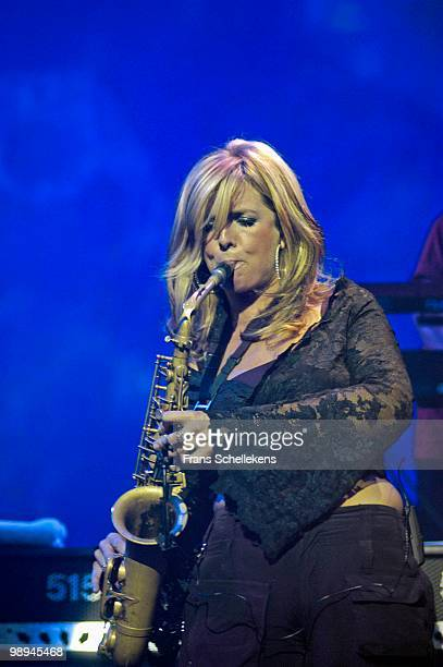 Dutch Alto Sax player Candy Dulfer performs live at Paradiso in Amsterdam Netherlands on November 11 2002