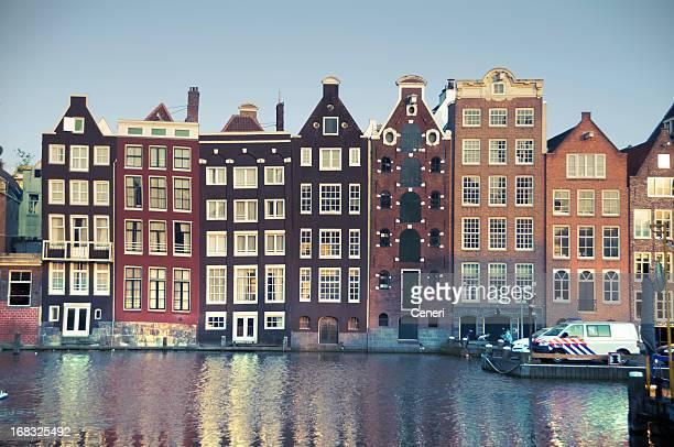 Niederländischer Architektur auf die Grachten von Amsterdam, Niederlande