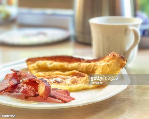 Dutch Baby, Bacon and Coffee Breakfast
