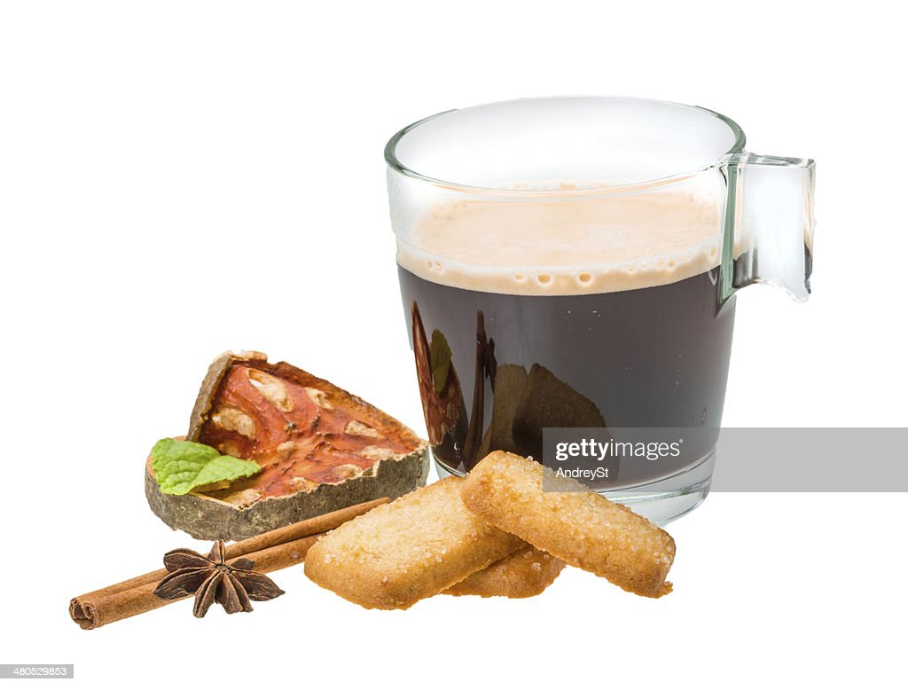 Dutch cookies with coffee : Stock Photo