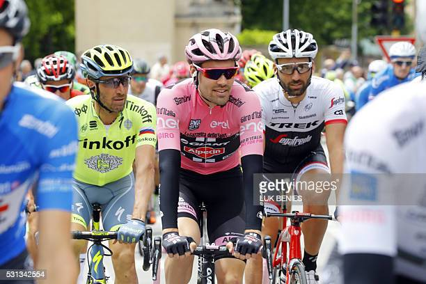Dutch cyclist Tom Dumoulin of Giant Alpecin team rides during the 8th stage of 99th Giro d'Italia Tour of Italy from Foligno to Arezzo of 186 km on...