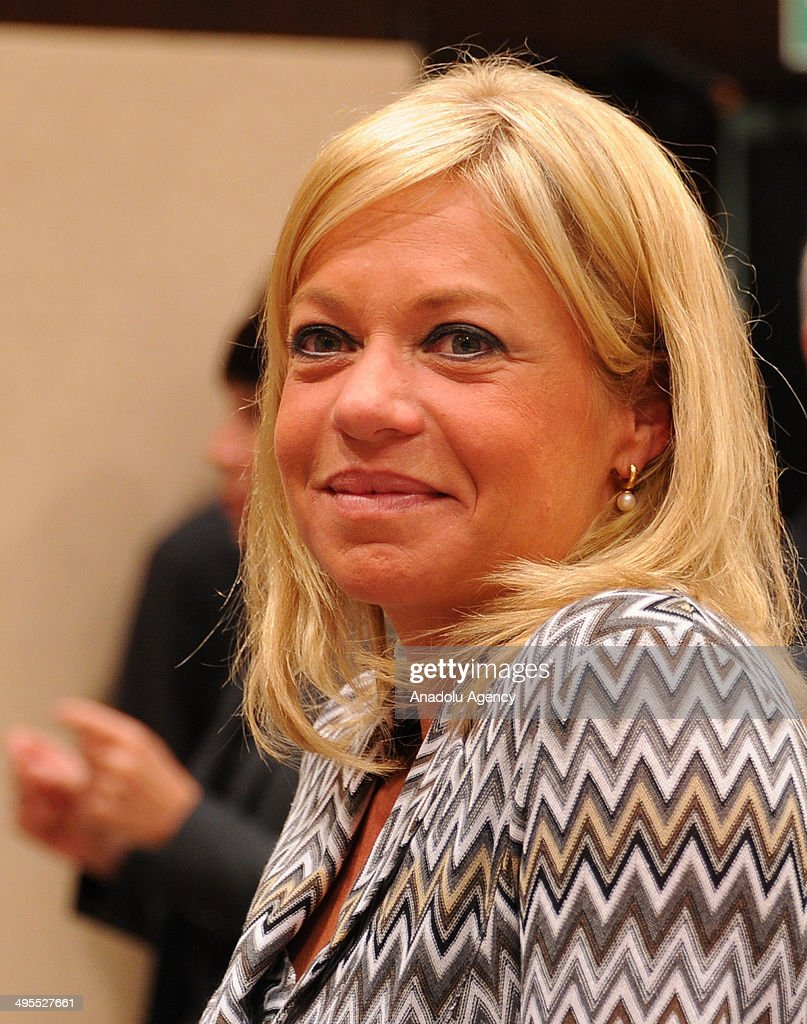 Dutch Defence Minister Jeanine Antoinette Hennis-Plasschaert attends the second day of the NATO Defense Ministers meeting at NATO headquarters in Brussels, Belgium on June 4, 2014.