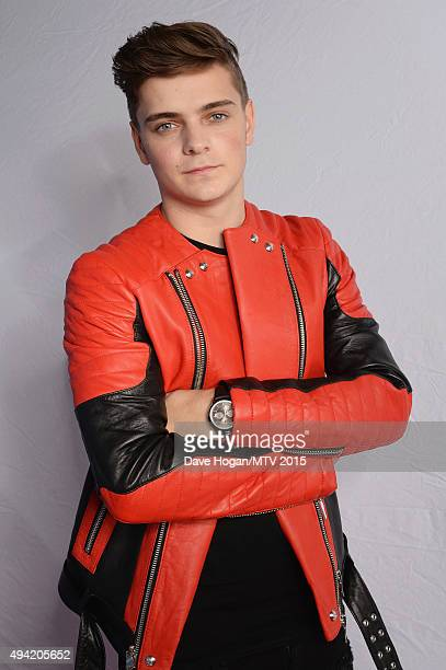 Dutch DJ composer Martin Garrix poses for a portrait before the MTV EMA's at the Mediolanum Forum on October 25 2015 in Milan Italy