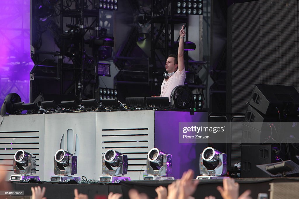 Dutch DJ Sander Van Doorn performing at the Ultra Music Festival at Bayfront Park Amphitheater on March 24, 2013 in Miami, Florida.