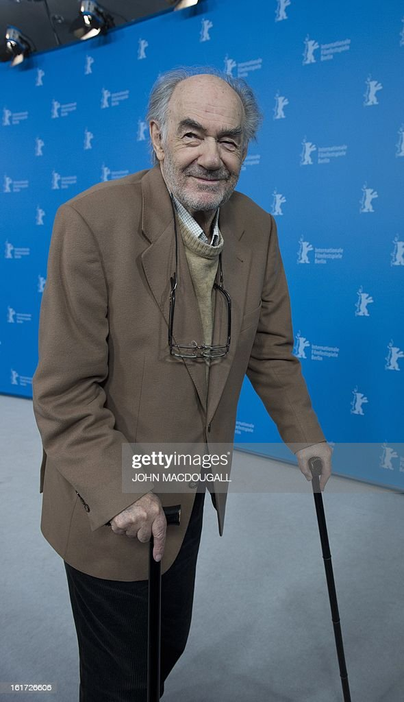 Dutch filmmaker George Sluizer poses during a photocall for the film Dark Blood competing in the 63rd Berlinale Film Festival in Berlin February 14, 2013.