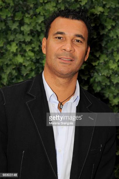 Dutch football coach and former player Ruud Gullit attends the Italian tv show 'Quelli che il calcio' on November 22 2009 in Milan Italy