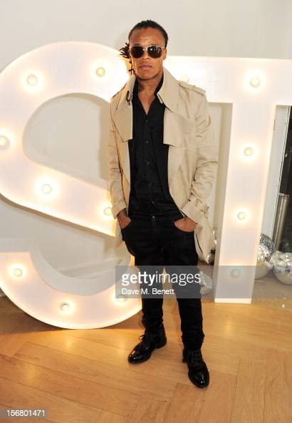 Dutch footballer Edgar Davids attends the launch of the SuperTrash London flagship store on November 21 2012 in London England
