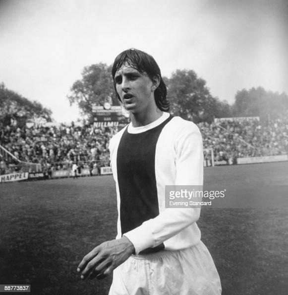 Dutch footballer Johan Cruyff playing for AFC Ajax June 1971