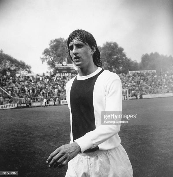 Dutch footballer Johan Cruyff playing for AFC Ajax June 1971