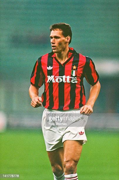 Dutch footballer Marco van Basten of AC Milan October 1992