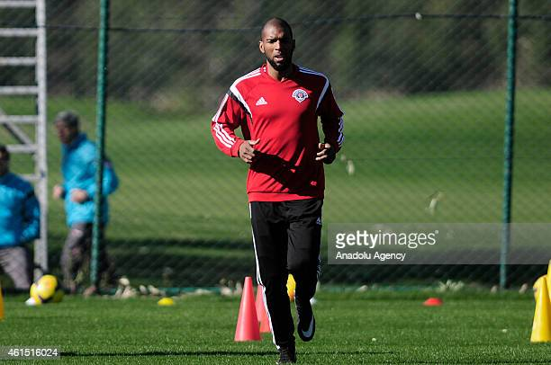 Dutch footballer Ryan Babel of Kasimpasa attends the team's training camp in Antalya Turkey on January 13 2015