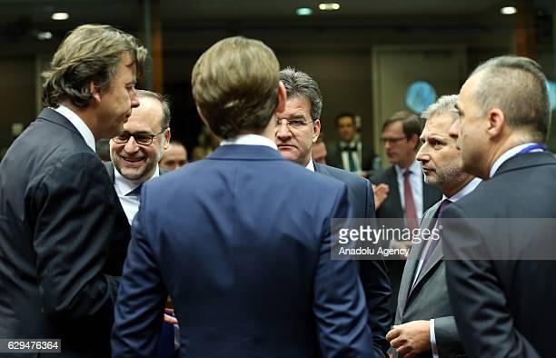 Dutch Foreign Minister Bert Koenders European Commissioner for European Neighbourhood Policy and Enlargement Negotiations Johannes Hahn Austrian...