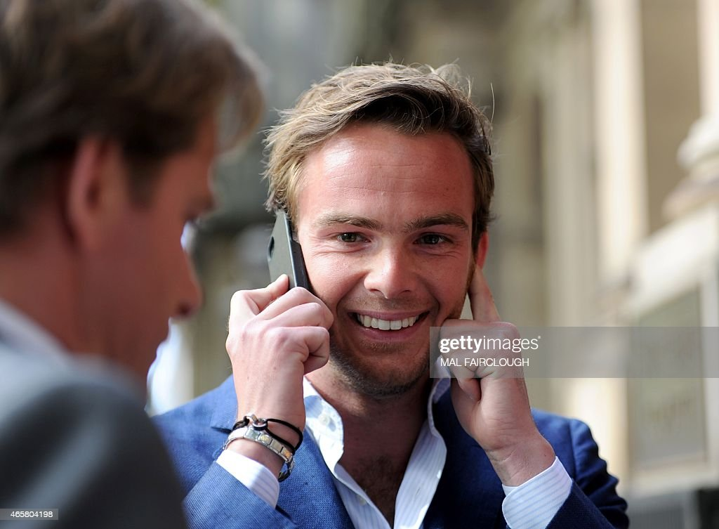 Dutch Formula One driver Giedo van der Garde reacts outside the Victorian Supreme Court in Melbourne on March 11 which ruled he can drive for Sauber...