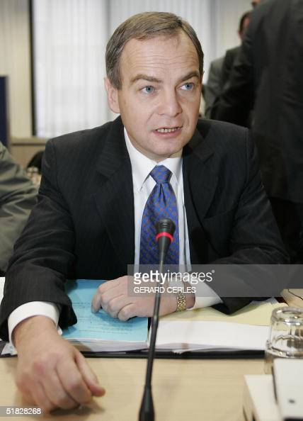 Dutch Health minister and current chairman of the Council Hans Hoogervorst is seen prior to the Employment Social Policy Health and Consumer Affairs...