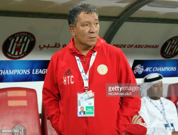Dutch Henk ten Cate head coach of UAE's alJazira looks on during an Asian Champions League Group B football match against Iran's Esteghlal Khuzestan...