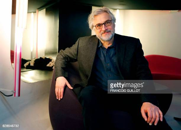 Dutch illustrator Michael Dudok de Wit director of The Red Turtle and guest of honor of the Carrefour du cinema festival in Paris poses during a...