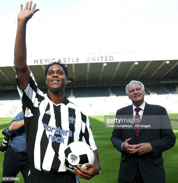 Dutch International Patrick Kluivert arrives at St James Park on Tyneside after signing for Newcastle United 'It's a great club with great players...