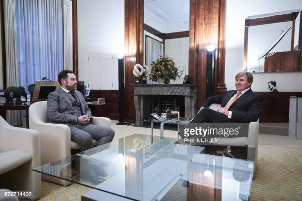 Dutch King WillemAlexander attends a meeting with VVD party leader Klaas Dijkhoff at the Noordeinde Palace in The Hague on November 20 2017 After the...