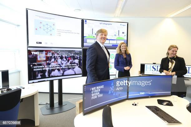 Dutch King WillemAlexander visitd The Hague Security Delta Campus in The Hague on March 23 2017 Companies institutions and governments that have...
