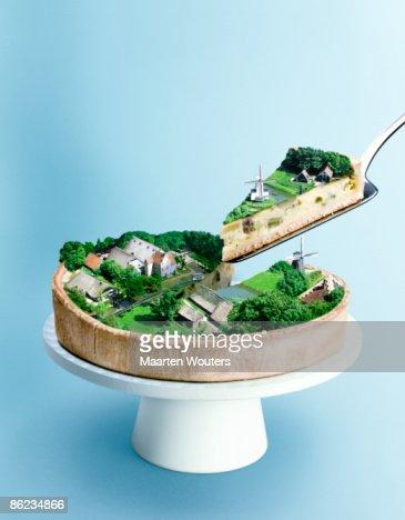 dutch landscape cake : Foto stock