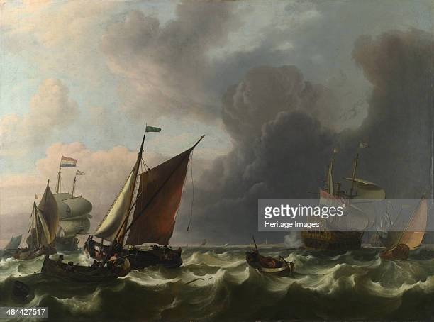 Dutch Menofwar and Small Vessels in a Fresh Breeze off Enkhuizen 1683 Found in the collection of the National Gallery London