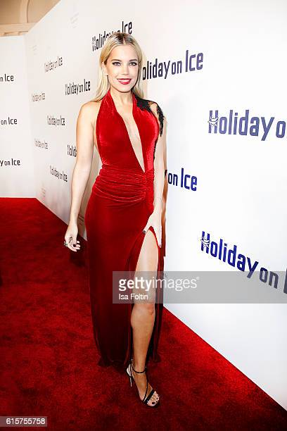 Dutch moderator Sylvie Meis attends the 'Holiday on Ice' gala at Hotel Atlantic on October 19 2016 in Hamburg Germany
