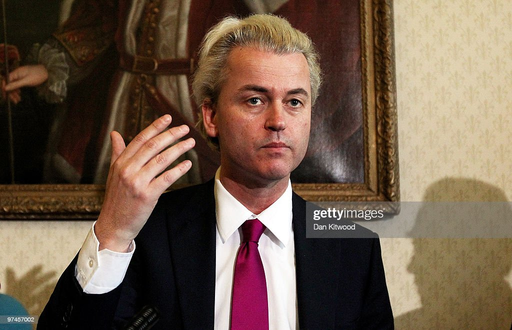 Controversial Right Wing Dutch MP Geert Wilders Holds A Press Conference