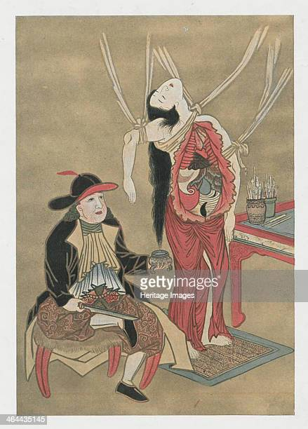 Dutch physician anatomizing a japanese woman 18th century From a private collection