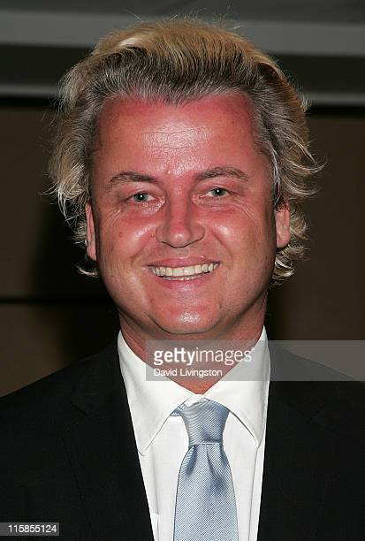 Dutch politician and Party for Freedom chairman Geert Wilders attends the American Freedom Alliance's Heroes of Conscience Dinner at the Ronald...